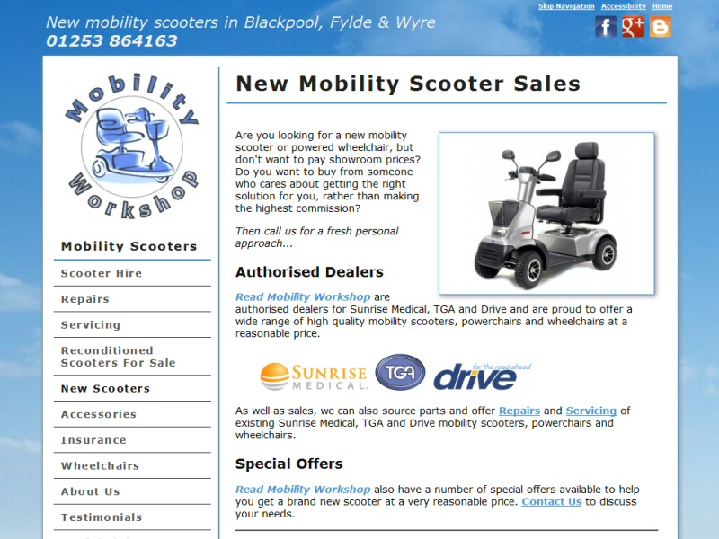 Read Mobility Workshop Website, © EasierThan Website Design