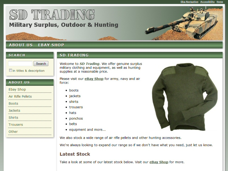 SD Trading Website, © EasierThan Website Design