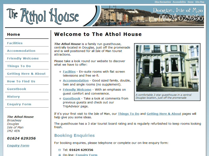 The Athol House Website, © EasierThan Website Design