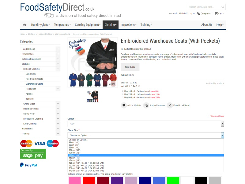 Food Safety Direct Website, © EasierThan Website Design