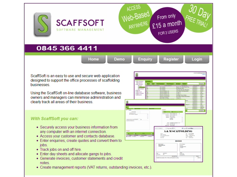 ScaffSoft Website, © EasierThan Website Design