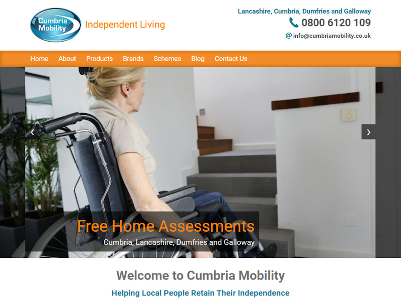 Cumbria Mobility Website, © EasierThan Website Design